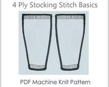 Easy Legwarmers - Legwarmers Pattern - Machine Knit Pattern - Machine Knitting - Plain Legwarmers - PDF Legwarmers - Download Legwarmers
