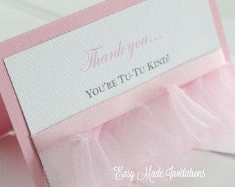 Tutu Handmade Thank You cards