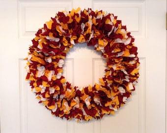 "18"" NFL Washington fabric wreath"