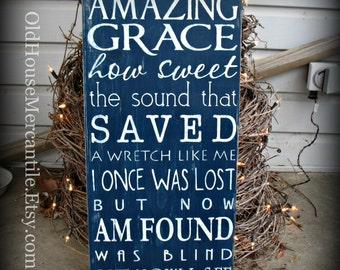 Amazing Grace - Christian Art - Scripture - Inspirational - Motivational - Gift
