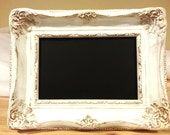 Very Vintage-looking French Style Framed Chalkboard, Wedding decor, 4x6