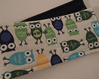 Belly Band, Male Dog Diaper, Super Cute Owl Fabric, Personalized