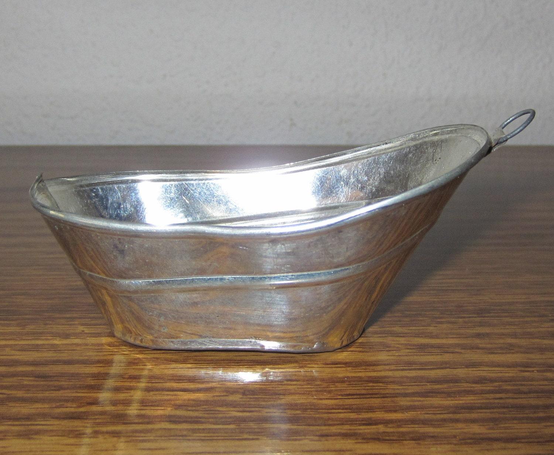 Dollhouse Miniature Tin Bath Tub Bathtub 1 Scale