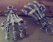 4pcs Antique silver Skeleton hands charm pendant  35mmx64mm