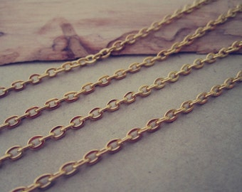 """16ft  gold color """"0"""" shape  necklace chain 2mmx3mm"""
