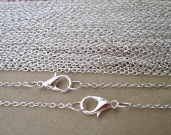 30pcs  1.5mm 24inch  Silver color (copper)  Link  chain