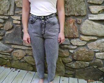 Vintage Black Acid-Washed Jeans
