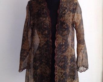 Priudi Pret a Porter Batik Silk Blouse