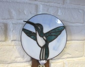 Stained Glass Hummingbird Nightlight