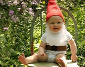 Gnome hat and beard costume baby/toddler/child/adult Halloween costume