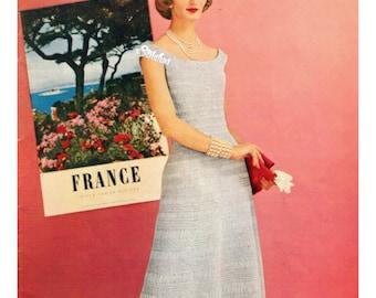 1950s Lace Evening Dress, a Hairpin Lace pattern PDF 3389