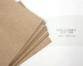 100 Kraft Paper Blank Postcards / Card stock, Size 4.2x6 inch - for postcard, greeting card, invitation, note cards or letterpress