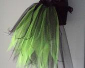 Burlesque Black Green Bustle Tutu Belt US 4 10 UK 6 12 Bachelorette Party