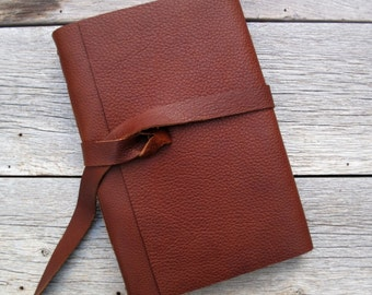 Large Leather Journal / 400 pages / Sketch Book / Guest Book.