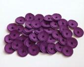 30 Plum Purple Mini Poppies Embellishment