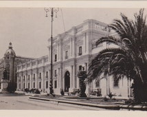 1920s vintage postcard of La Moneda/government palace in Santiago, Chile- Hispanic Society of America - real photo, undivided back (333)