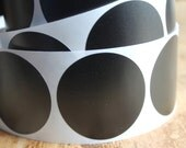 Tokyo Plain Black Polka Dot Stickers - Basic 2 in. Round Circles - (20)