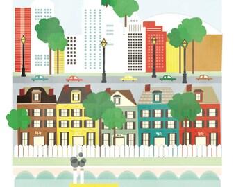 New Orleans art print illustration - 11x14 - city art poster New Orleans