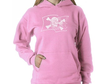Women's Hooded Sweatshirt - Created using Famous Pirate Captains and Ships