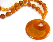 Red Aventurine Gemstone Necklace for Optimism Sacral Chakra Necklace