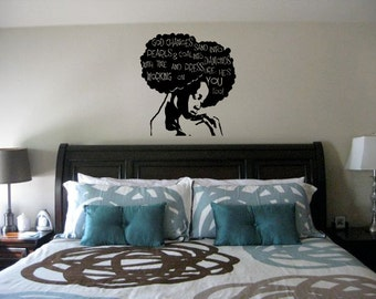 24 in Pressure Wall Decal- Natural Hair, Wall Decal, Afro Hair