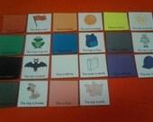 "Colors Felt / Flannel Board Set: ""My Colors"" Reading, Kindergarten -1st Grade - Phonics - Homeschool - Kids Educational Toy - Montessori Toy"