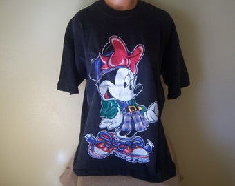 Vintage Minnie Mouse T-Shirt, Disney 1980's, Mickey Unlimited, Made In USA, One Size Fits All, 100% Cotton