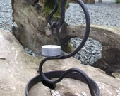 Hand forged tealight holder