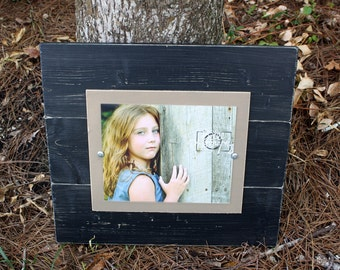 Distressed Picture Frame, Wood 8x10 Frame, Black Picture Frame, 8x10 Picture Frame, Wedding Gift