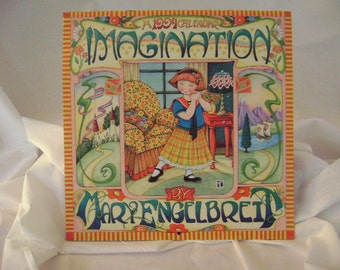 "Mary Engelbreit 1994 Wall Calendar ""Imagination"""