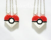 Pokeball Inspired Heart BFF/ Couple's Necklaces (SPECIAL EDITION)