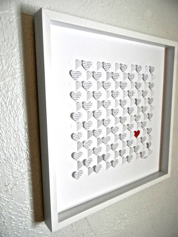 Wedding guest book alternative large size 3d paper hearts like this item junglespirit Choice Image