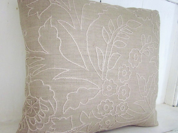 French Shabby Chic Pillows : Decorative pillows embroidered pillows shabby chic french