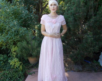 Vintage 1950's Pink Lace Bridesmaid's Gown Maid of Honor 'New Look' Style Late 40's / Early 50's 1 of 4 Gowns 'Discount' if you buy 2 or 4