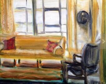 Hemingway .. original oil painting 8x10