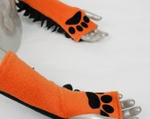 Orange Frilled Glovelets