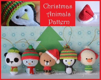 Christmas Animals Amigurumi Pattern