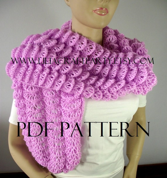 KNITTING PATTERN SHAWL - Angel Wings Shawl Stole Wrap - pdf Pattern