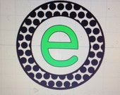 Circle of Small Polka Dots with Initial Car Decal - 2 Colors