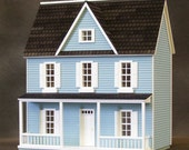 Half Inch Scale Wooden Dollhouse Kit, Charming Farmhouse