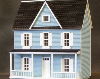 Wooden Dollhouse Kit, Charming Farmhouse, , Auntie Em, Half Inch Scale