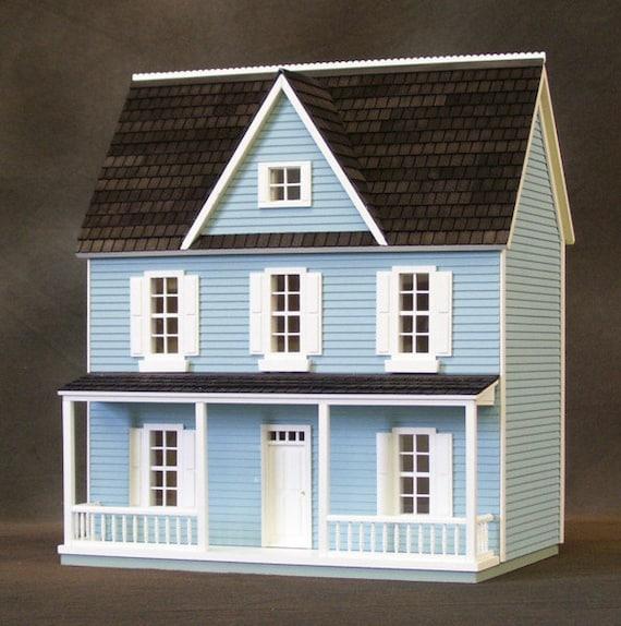 Wooden Dollhouse Kit, Charming Farmhouse, , Auntie Em, Half Inch Scale