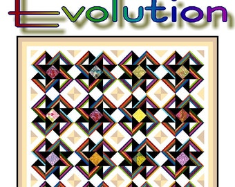 EVOLUTION - Quilt-Addicts Patchwork Quilt Pattern