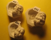 YOUR CHOICE - Rigid Polymer Clay Creepy Character Doll Face Cab Push Press Molds Mould by Art of Two M's