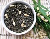May Jasmine Tea / 100% Organic Green Tea / Hand Blended / Loose Leaf / No Flavoring Added
