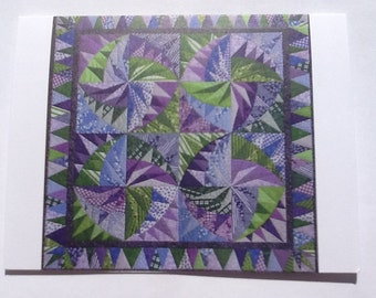 Set of 10 Dizzying Quilt Note Cards (folded)