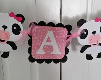 Panda  ITS A GIRL banner
