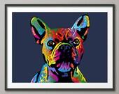 French Bulldog, Art Print (417)
