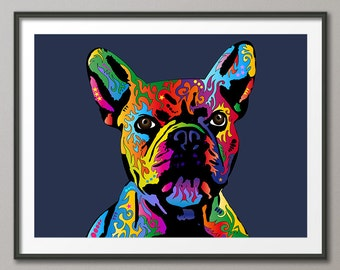 French Bulldog, Art Print (417)