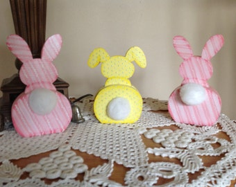 Wooden Bunnies for Easter
